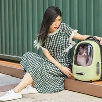 Cat Carriers,Crates & Houses 2021 Carrier Backpack Travel Spaceship Pet Carier Small Dog Transport Bag Carrying For Cats