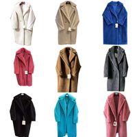 Trench casacos casaco mistura jaqueta jaqueta lã mistura casaco womens luxo designer roupas mulher de alta qualidade marca tecido alpaca longo moda camisola outono inverno