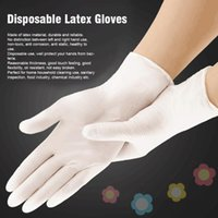 Disposable Gloves 100pcs Hands Protection Service White Household Cleaning Laboratory Gardening Latex Non Slip Flexible