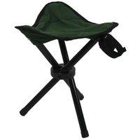 Folding tripé banquinho ao ar livre portátil acampamento assento de pesca leve acessórios