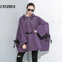 Fashion Brand Women Trench Coat Long Zipper Solid Hooded Lad...