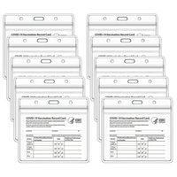 CDC Vaccinez les fichiers de boîtes de la carte 4 x 3 pouces Immunisation Cartes de vaccination Protecteur Clear Vinyl Plastic Plastic Sleeve Titulaires de cartes d'affaires étanches uniquement