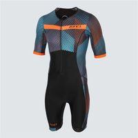 ZONE3 2021 Летний мужской Триатлон Skinsius Cycling Jersey с коротким рукавом Комбинезон Дорога MTB Велосипед работает Одежда Racing Sets