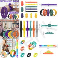 Giocattoli decompressioni Sensoriale Mini Push Bubble semplice Dimple Bracciale Anti-stress Bordo Autism Giocattolo educativo per i regali per bambini