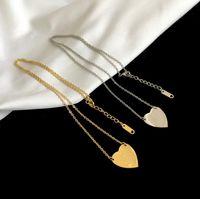 الأزياء الأمريكية الأزياء والمجوهرات مجموعات النساء سيدة التيتانيوم الصلب 18 كيلو مطلي أقراط الذهب القلائد مجموعات مع إلكتروني قلادة القلب