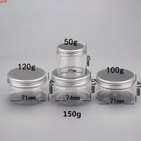 50g 100g 120g 150g 15pcs 플라스틱 항아리 알루미늄 / 플라스틱 뚜껑, 플라스틱 크림 항아리, 좋은 씰링 냄비, 플라스틱 포장 containerhigh qty