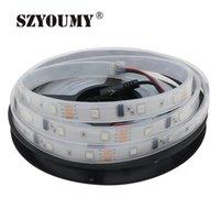 Strips Szyoumy DC12V 5M 150LED IP67 wasserdicht 6803 IC SMD RGB Dream Magic Color LED-Streifen 50 Meter