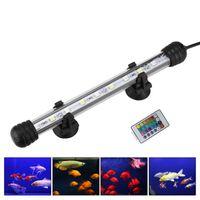 Edison2011 19-128CM RGB LED Aquarium Light Waterproof Fish Tank Clip Lights Underwater Decor Lighting Submersible Lamp