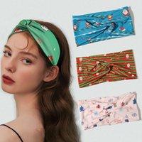 Women Print Headband Headbands Bulk Cross Knot Head Band Elastic Hair Bands Twisted Knotted Wraps Girls Woman Headwear Christmas Accessories