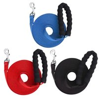Dog Collar Leashes Training Lead Leash Pet Recall Traction With Soft Polded Handle Black 10m Outdoor Security Harness