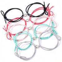 Il magnete cuore attira coppie braccialetti studenti buone sorelle corda a mano amicizia braccialetto gioielli 3027 q2