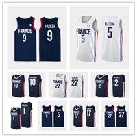 Olimpiadi di Tokyo 2021 Francia Basket Blay Jersey 10 Evan Fournier Rudy 27 Gobert Nicolas 5 Batum 7 Guerschon Yabusele 1 Frank Ntilikina 2 Amath M'Baye 12 Nando de Colo Man