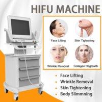Mais novo grau médica Hifu alta intensidade focada ultra-som hifu face lift máquina remoção de rugas com 5 cabeças para rosto e corpo