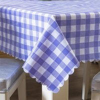 Table Cloth Classic Plaid Tablecloth For Dining El Waterproof Quality Tea Living Room Household Modern Desk Cover Picnic Mats