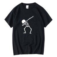 Xin Yi Herren T-Shirt Hohe Qualität 100% für Männer Kurzarm Drucken Schädel T-shirt Casual Oansatz T Shirts Lustiges T-Shirt
