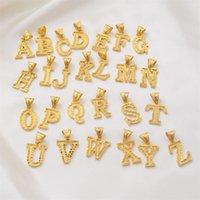 Anniyo A-Z Small Letters Collane Donne / Girl Color Gold Pendente iniziale Catena sottile Catena Italiano Lettera Gioielli Alfabeto Regalo 1013 T2