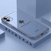 Custodie per telefoni cellulari per iPhone 12 11 Pro Max XS XR 8 7 Plus Mini SE 20 custodia in acero foglia placcato oro morbido copertura in silicone