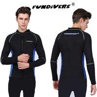 Combinaison Split Homme à manches longues 3mm Sunscreen Sunscreen Suit S-3XL en option