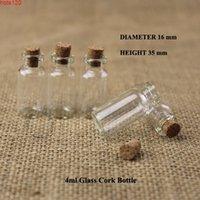 100pcs lot Promotion 4ml Mini Glass Bottle Empty 2 15OZ Cork Small Wishing Vials Gift Sample Jars Refillable Cosmetic Packaginghood qty