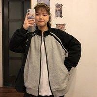 Women's Jackets Harajuku Oversized 2021 Baseball For Women Korean Vintage Long Sleeve Cardigan Student Jacket Trend Sport Streetwear
