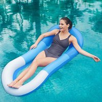 Floating Hammock Lounge Mesh Bed Inflatable Swimming Pool Lake Raft Floater Air Mattress PVC Chair Portable Sea Floats & Tubes