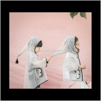 비옷 어린이 투명한 후드 Tassels Eva 뾰족한 모자 Poncho 큰 모자 피크 비옷 가정용 잡화 HA1183 GCMTB J3E1T