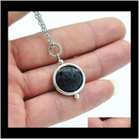 & Sets Drop Delivery 2021 Necklace Aromatherapy Essential Oil Diffuser Necklaces And Earrings Set Black Lava Pendant Jewelry Ps1227 B1407