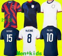 2021 الولايات المتحدة الأمريكية Soccer Jersey 2022 أمريكا Pulisic dest mckennie Reyna adams Weah Musah Ertz Bradley Pugh Lloyd Altidore 21 22 US Men + Kid Kit Comfots