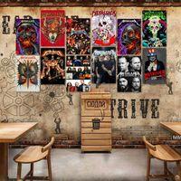 Rock Band Signs Segni in metallo Vintage Poster Vecchio muro Plaque Plaque Club Wall Home Art Metallo Pittura Parete Decor Art Picture Party Decor HWD7064