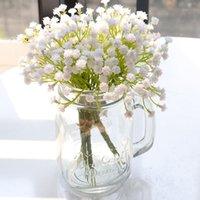 Decorative Flowers & Wreaths 1Bunch Artificial Flower Wedding Decoration White Floret Scene Vase Garden Home Decor 20cm Babysbreath Bouquet