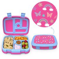 Children Dinnerware picnic lunch box Leak-proof independent compartment bento boxs