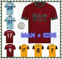 Homens + Kits Kits 2021 Raul Lobos Jerseys de futebol 20-21 Coady Campana Podência Diogo Neves Camisa de Futebol J.Moutinho Adama