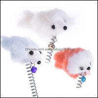 Supplies Home & Gardenfunny Swing Spring Mice With Suction Cup Furry Cat Colorf Feather Tails Mouse For Cats Small Cute Pet Toys 563 R2 Drop