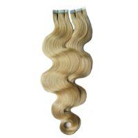 100 جرام ريمي الشعر الإنسان ملحقات لاصق الشريط بو لحمة الجلد (40pcs) الشريط في الشعر البشري ملحقات الجسم موجة غير المجهزة عذراء الشعر البرازيلي