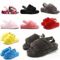 2021 Kadın Kürklü Terlik Kabartmak Yeah Slayt Sandal Avustralya Bulanık Yumuşak Ev Bayanlar Bayan Ayakkabı Kürk Kabarık Sandalet Erkek Kış Slipp # 5987 A6C9 #