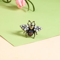 Personalidad de las mujeres de la personalidad de HotSale Anillo de la abeja de insecto de cristal chapado en oro para las mujeres para las mujeres Regalo especial para los amigos NL-712