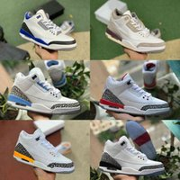 Jumpman Racer Mavi 3 3 S Basketbol Ayakkabı Erkek Serin Gri Bir Ma Maniere UNC Parçası Knicks Ücretsiz Atmak Hattı Jordán Siyah Çimento Saf Beyaz Tinker Eğitmen Sneakers