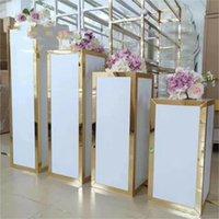 Decoração de festa 4 pçs / set) plinth evento coluna branco pedestal indicador de casamento stand para eventos casamento yudao701