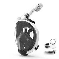 Copozz Dalış Maskesi Tam Yüz Sis Şnorkel Sualtı Scuba Dalış Maskesi Yüzme Şnorkel Ekipmanları Yetişkin Gençlik SQCPBA Home2006 için