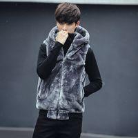 Europa y América estilo invierno espesado con capucha chaleco casual chaleco hombres para hombre chaqueta sin mangas chaleco hombre talla M-5XL WJL0633