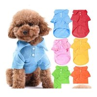 Cotton 100% Pet Clothes Soft Breathable Dog Cat Polo T-shirts Apparel for Spring Summer Fall 6 Colors 5 Sizes in Stock Jmmux