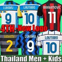 Camisa de futebol INTER MILAN 2021 2022 quarta 4ª camisa LUKAKU LAUTARO ERIKSEN BARELLA 21 22 AC milão IBRAHIMOVIC THEO camisa de futebol infantil define uniforme