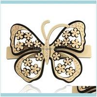 Bijoux à cheveux Aessory - Barrettes papillon pour femmes Clip classique Clip Cellulose Cellulose Bijoux Tiara Porter Clips Drop Livraison 2021 L