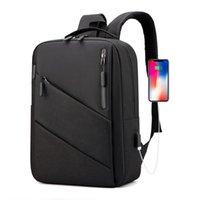 حقائب مدرسية أزياء رجالية حقيبة كاجوال الأعمال بنين بيل بيل بسيطة حزمة اتصال USB شحن حقيبة كلاسيكية