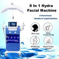 Dermapen Hydrafacial Machine Microdermabrasrasion يحسن نسيج الجلد Hydra Mever Mether Hydrate Face مجهز ب 7 مقابض علاج