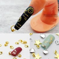 3D Dangle Nail Art Charms Rhinestones Nail Piercing Ring jewelry Hand Drill Metal Alloy Manicure Designs Tool