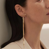 Püsküller Dangle Kulak Çiviler Moda Altın Gümüş Kaplama Metal Küpe Yılan Kemik Kadınlar Uzun Eardrop Sadelik 2 8qy L2