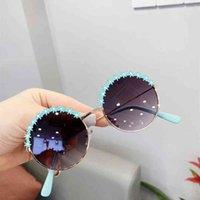 Estate moda fiore bambini rotondi occhiali da sole occhiali da sole caramelle carino ragazzi ragazze occhiali da sole occhiali da sole all'aperto viaggio UV protettivo per occhiali forniture H528S8E