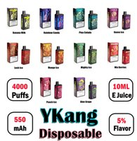 Ykang Box одноразовый Vape Device 4000 Custack аккумуляторная батарея 550 мАч 10 мл POD с 5% Flavr 10 цветов слойки