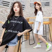 Clothing Sets 2021 Summer Toddler Girl Clothes Set Back To School Kids Tracksuit Outfit Teenage Print Black And White T-Shirt + Shorts 4-14Y